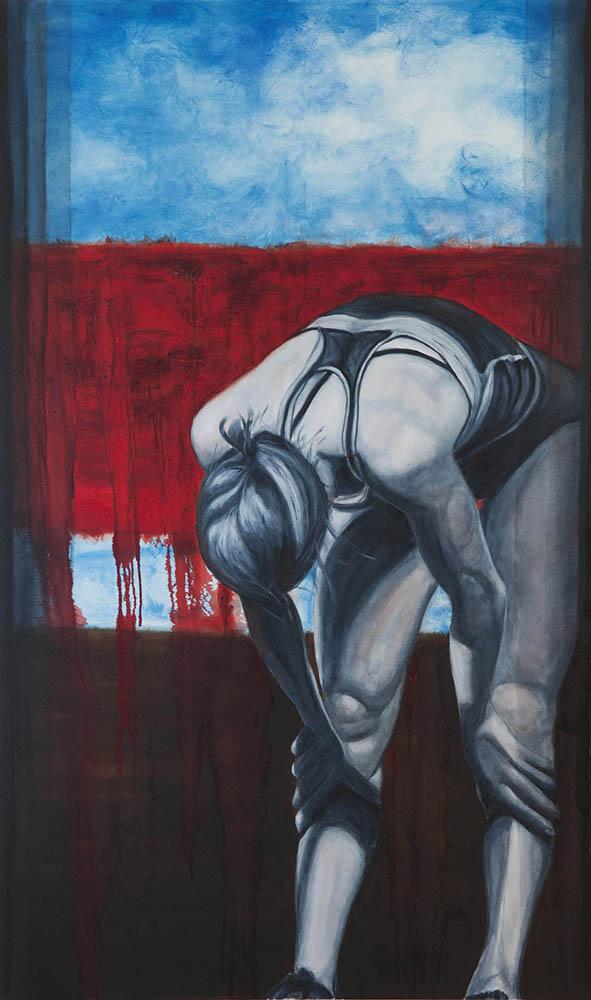 """Last Breath #2"", Oil on Canvas, 36"" x 60"", 2014"