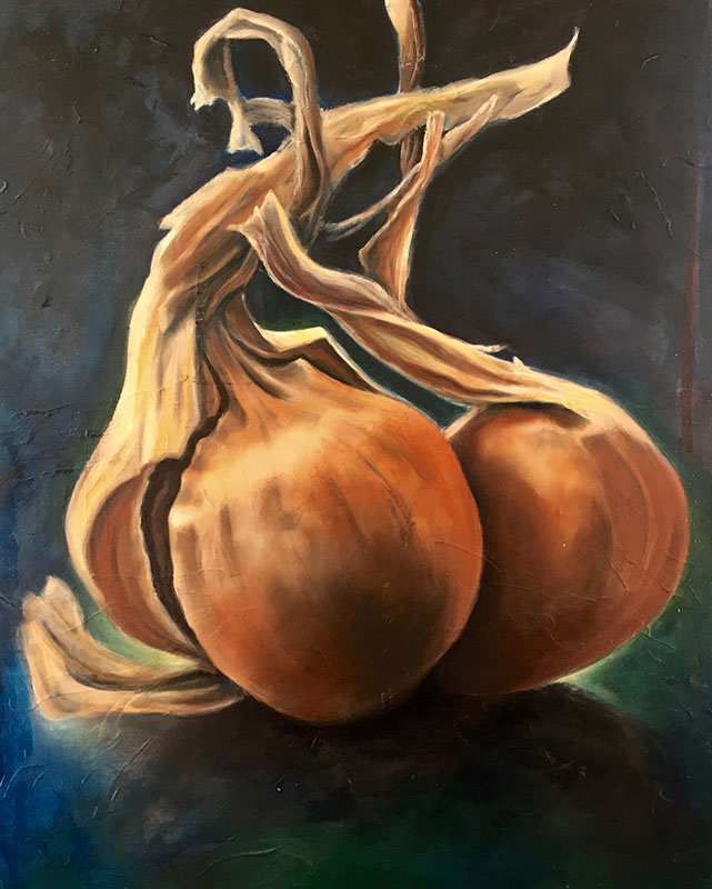 """Tasty Start,"" Oil on Canvas, 30"" x 36"", 2018"