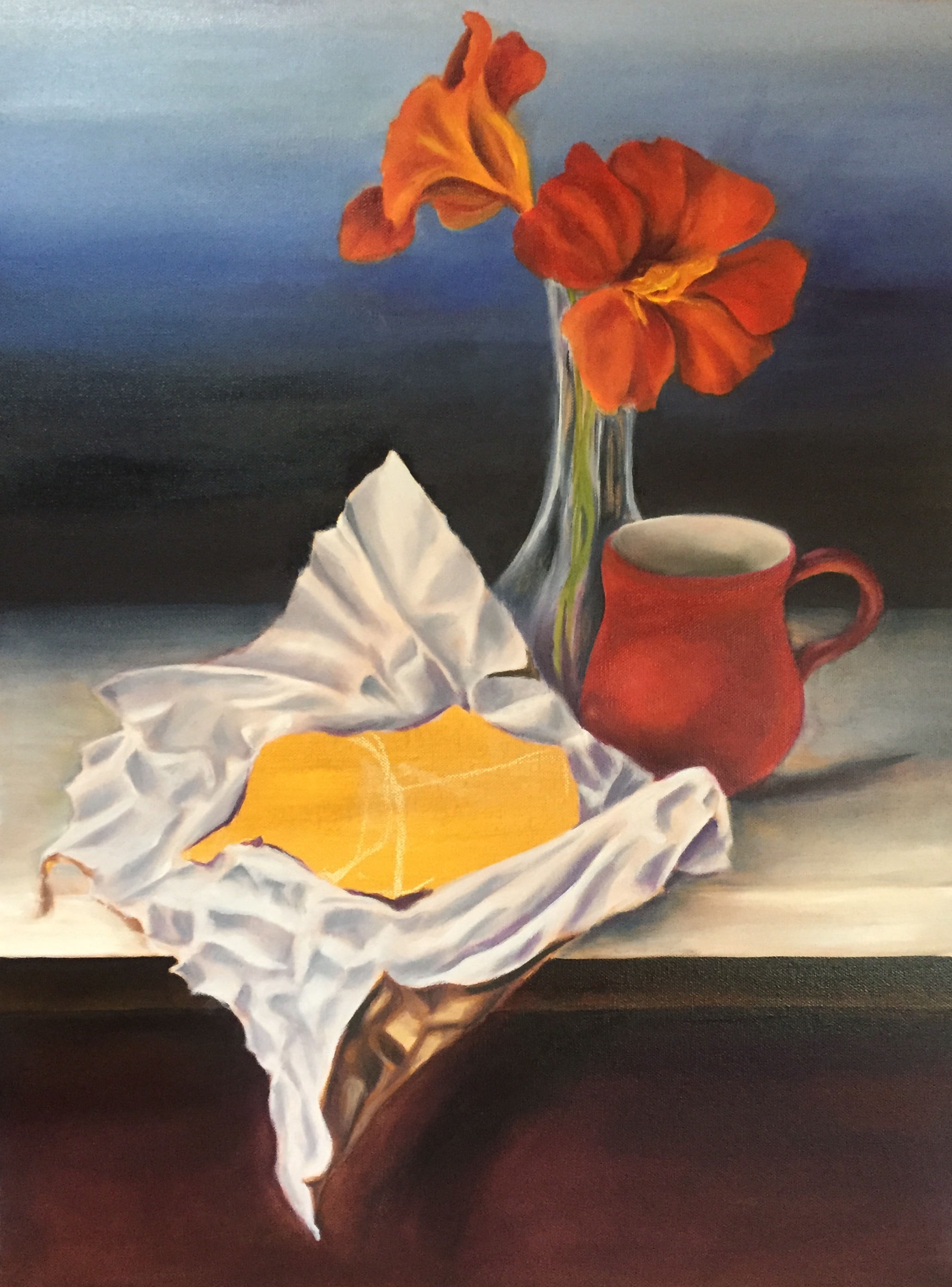 """Loving Cup,"" Oil on Canvas, 16"" x 20"", 2018 (Private Collection)"