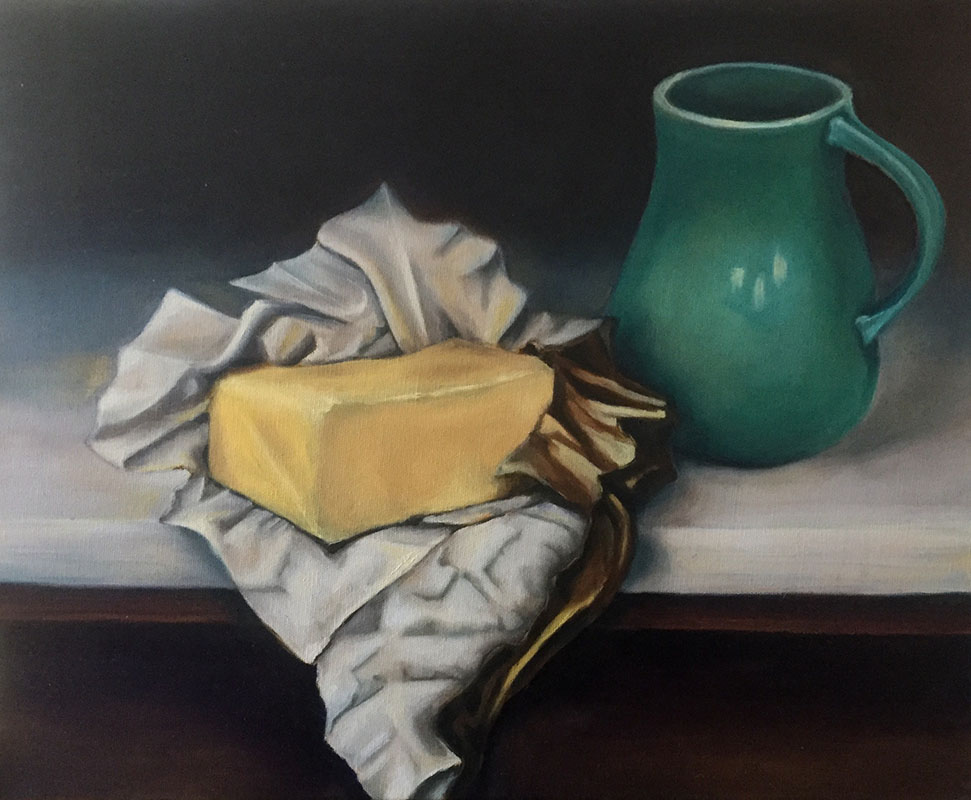 """Butter/Cup"", Oil on Canvas, 20"" x 16"", 2018"
